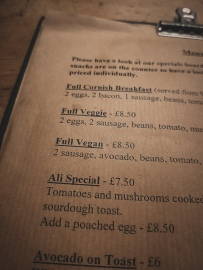 cafedogandrabbit full vegan menu